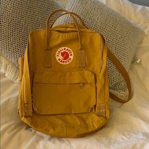 Mustard yellow book bag